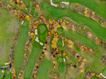 Aerial view of a golf course. royalty free stock image