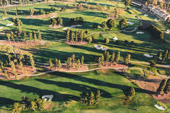 Aerial view of a golf course country club in LA. Aerial view of a golf course country club in Los Angeles, CA Royalty Free Stock Photography