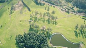 Aerial View of the Golf Course stock video footage