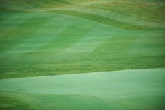 Aerial view of a golf course. Aerial view of a green golf course Stock Photo