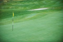 Aerial view of a golf course. Aerial view of a green golf course Stock Photos