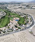 Aerial view of a golf course in las vegas Stock Image