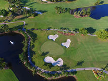 Aerial view Golf course 5 Royalty Free Stock Images