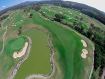 Aerial view golf course Stock Photos