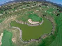 Aerial view golf course Royalty Free Stock Photos