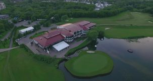 Aerial View of Golf Course stock video