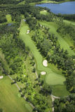 Aerial view of a golf course in summer Royalty Free Stock Images