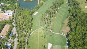 Aerial View of Golf Fields in Tropical Country stock video