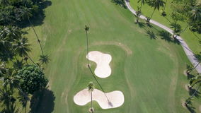 Aerial View of Golf Fields in Tropical Country stock video footage