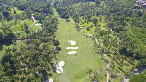 Aerial View of Golf Fields in Tropical Country. Shot with a DJI Mavic fps24 4k stock video footage