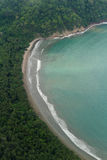 Aerial view of the Golf of Nicoya Stock Image