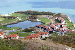 An aerial view of the golf resort. On the coast Stock Image