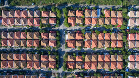 Aerial view of good environment house in good development real e Royalty Free Stock Photos