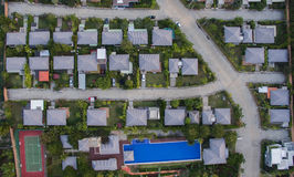 Aerial view of good environment house in good development real e. State for residential Royalty Free Stock Photography