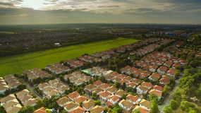 Aerial view of good environmental home habitat area in out skirt Stock Photography
