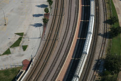 Aerial view of goods train Stock Image