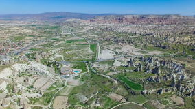 Aerial view Goreme National Park, Cappadocia stock footage