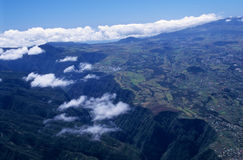 Aerial view of gorge and Cafres plain Stock Image