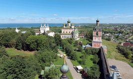Aerial view of Goritsky Monastery of Dormition in Pereslavl-Zale Royalty Free Stock Images