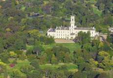 Aerial View of Government House in Melbourne, Victoria Stock Image
