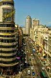 Aerial view of the Gran Via street in Madrid, Spain Stock Photo
