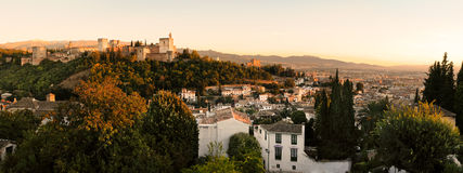 Aerial view of Granada. Andalusia, Spain Royalty Free Stock Image