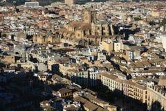 Aerial view of Granada Stock Image