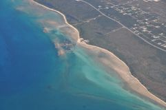 Aerial view of Grand Bahama Island Stock Photo