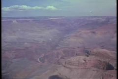 Aerial view of the Grand Canyon stock video