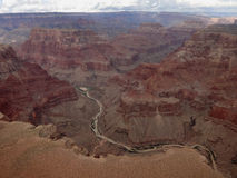Aerial view grand canyon Royalty Free Stock Photography