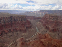Aerial view grand canyon Stock Photos