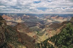 Aerial view of Grand Canyon. Royalty Free Stock Photo