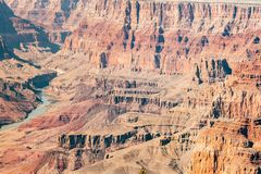 Aerial view of grand canyon national park, arizona royalty free stock photos