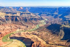 Aerial view of grand canyon national park, arizona royalty free stock photo