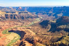 Aerial view of grand canyon national park, arizona. Amazing aerial view of grand canyon national park in Arizona, usa stock photo