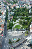 Aerial view of Grassalkovich Palace in Bratislava, Slovakia Royalty Free Stock Photos