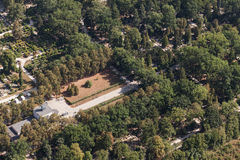 Aerial view of graveyard Royalty Free Stock Images
