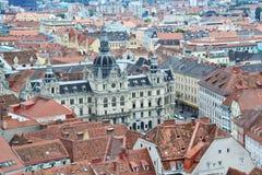 Aerial view of Graz, Austria Stock Photos
