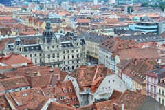 Aerial view of Graz, Austria Royalty Free Stock Photos