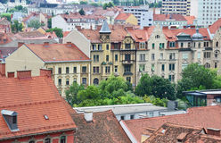 Aerial view of Graz, Austria Royalty Free Stock Image