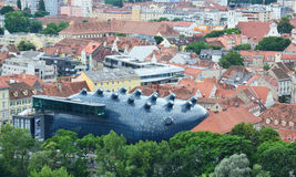 Aerial view of Graz, Austria Royalty Free Stock Images