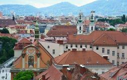 Aerial view of Graz, Austria Royalty Free Stock Photos