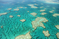Aerial View of Great Barrier Reef Stock Photography