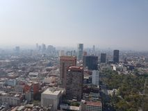Aerial view of the city of mexico. Aerial view of the great city skyline of mexico Stock Photos
