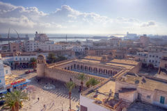 Aerial view on the Great Mosque in Sousse Stock Images