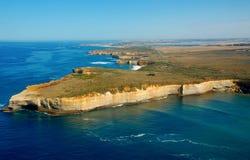 Aerial view on Great Ocean Road, Great Ocean Road, Australia. Royalty Free Stock Photos