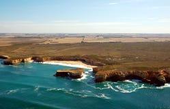 Aerial view on Great Ocean Road, Great Ocean Road, Australia. Royalty Free Stock Photo