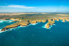 Aerial view of Great Ocean Road, Victoria Royalty Free Stock Photos