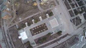 Aerial view of Great Patriotic War Memorial stock video