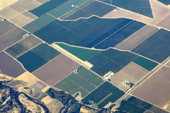 Aerial View Great Plains. Over Midwest in United States Stock Images